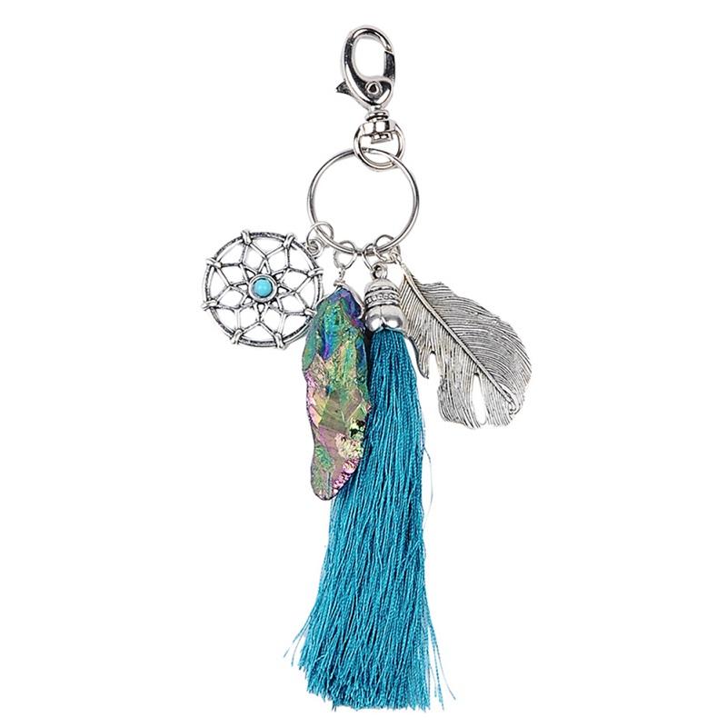Tassenhanger : Tassenhanger dreamcatcher lucky stone dromenvanger kopen