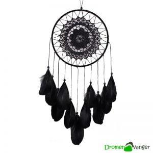 662 dromenvanger zwart black plush
