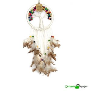 682 macrame tree of life houten kralen multicolor 17cm