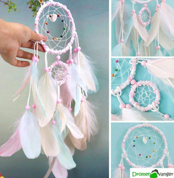 523 dromenvanger wit met roze - Sweet Girl 1