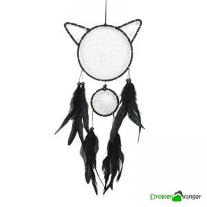 728 dromenvanger - kat - poes - zwarte kat - kattenvorm