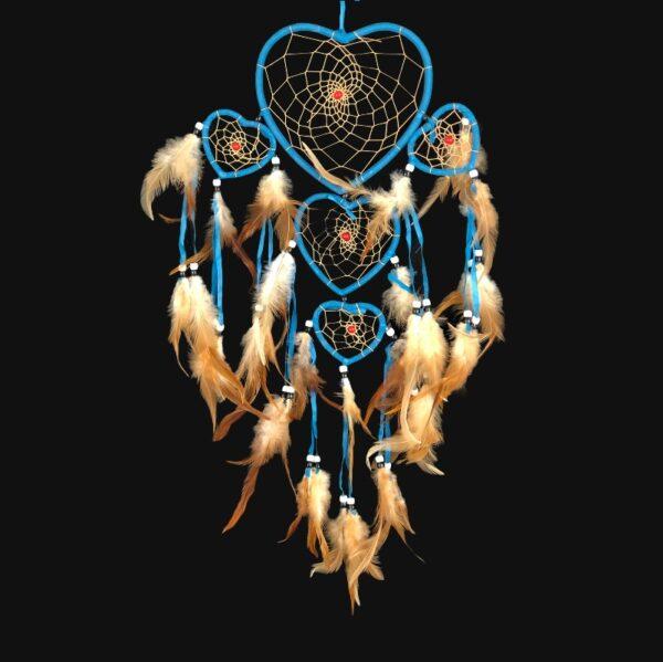 732 dromenvanger hart - hartvormig - deep blue heart