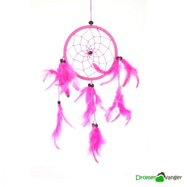 581-dromenvanger-roze-deep pink-11 centimeter-dreamcatcher