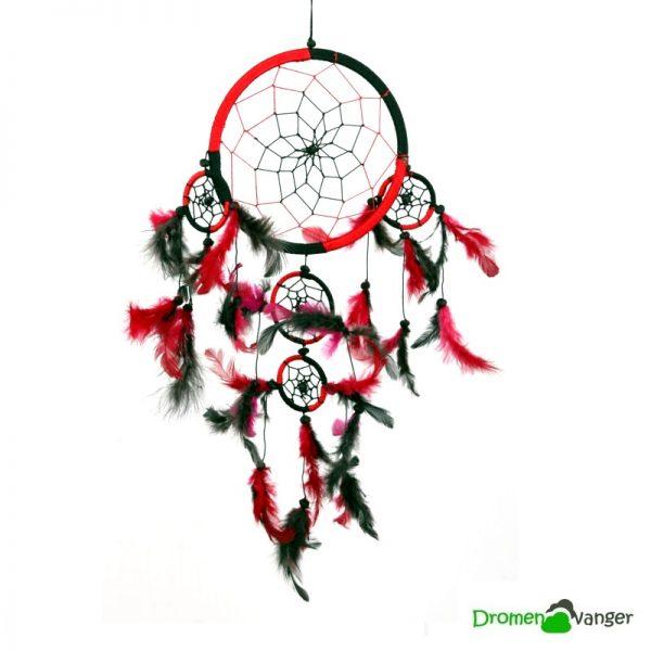 733-dromenvanger-rood en zwart-stoer-17centimeter