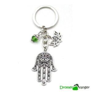 310 -Dromenvanger-sleutelhanger-hamsa-hand van fatima - kraaltjes - chakras