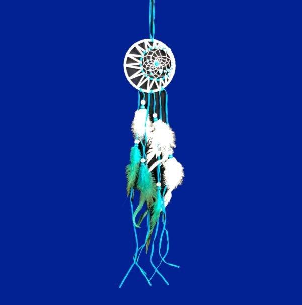 547 blauw met wit