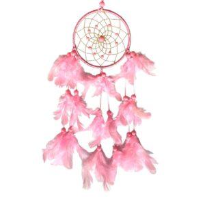 516 dromenvanger roze met gouden net - Sweet Dreams